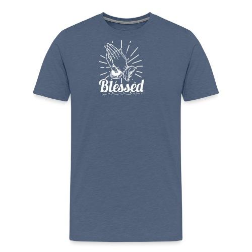 Blessed (White Letters) - Men's Premium T-Shirt