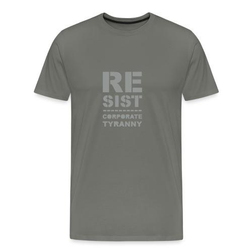 Resist CorporateTyranny 2017 - Men's Premium T-Shirt