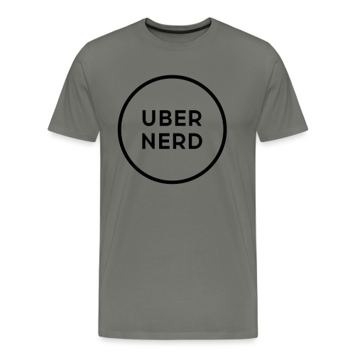uber nerd logo - Men's Premium T-Shirt