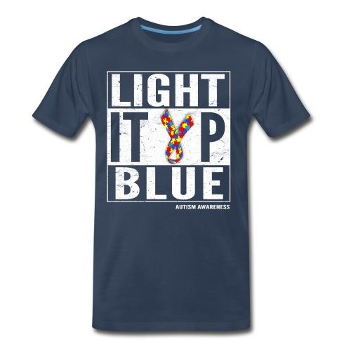 Light It Up Blue For Autism Awareness Shirt/ April - Men's Premium T-Shirt