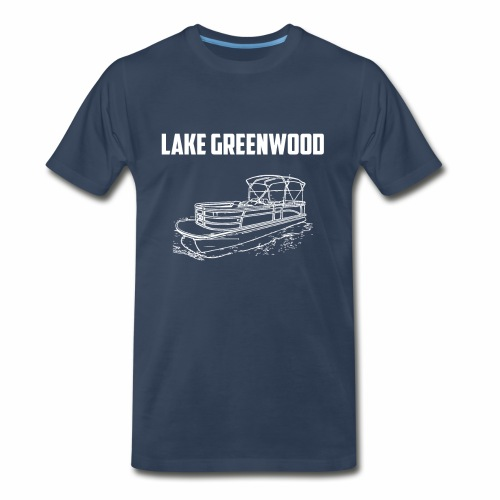 Lake Greenwood South Carolina Pontoon Boat Design - Men's Premium T-Shirt