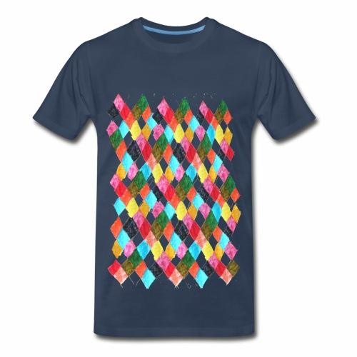 Harlequin Print poster cut out edges - Men's Premium T-Shirt