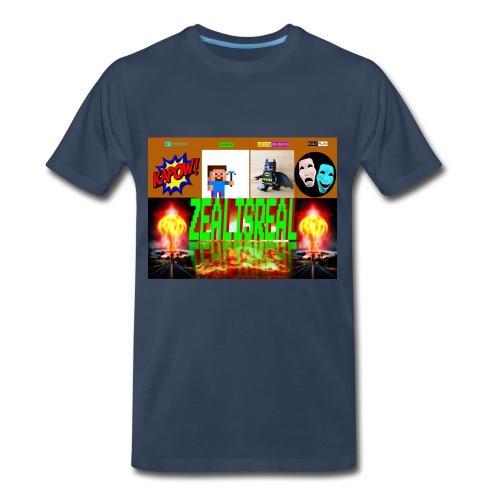 ZealisReal Banner - Men's Premium T-Shirt