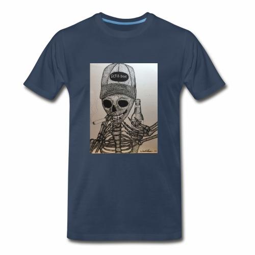 Get R Done Skele - Men's Premium T-Shirt