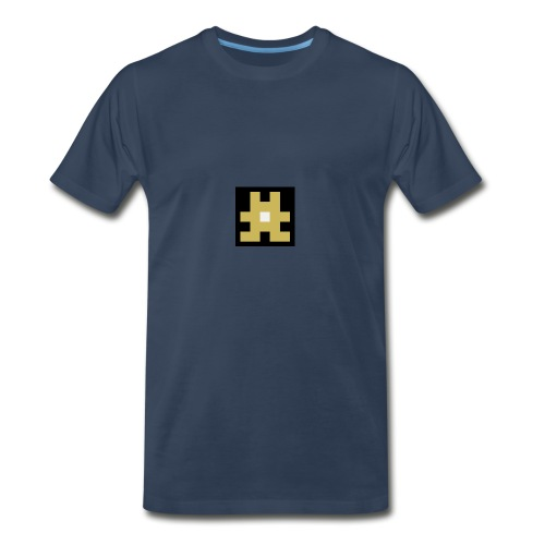 YELLOW hashtag - Men's Premium T-Shirt