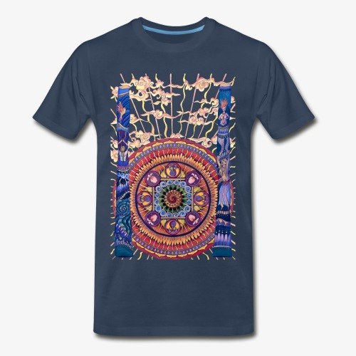 Didgeridoo Mandala - Men's Premium T-Shirt