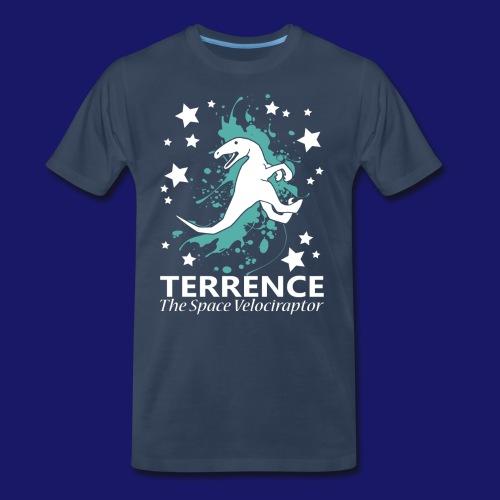 Terrence the Space Velociraptor - Men's Premium T-Shirt