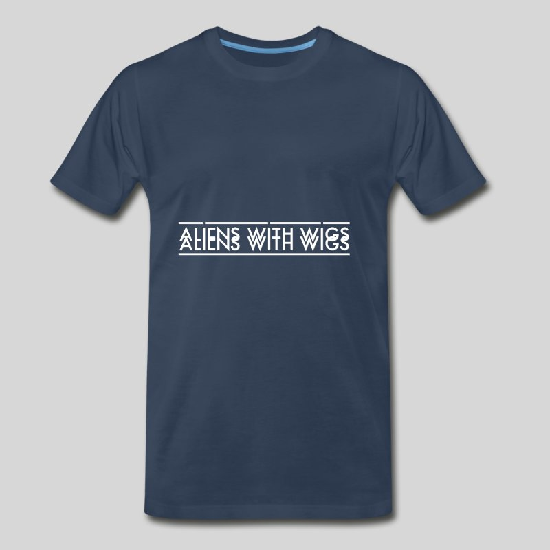 AliensWithWigs-Logo-Blanc - Men's Premium T-Shirt