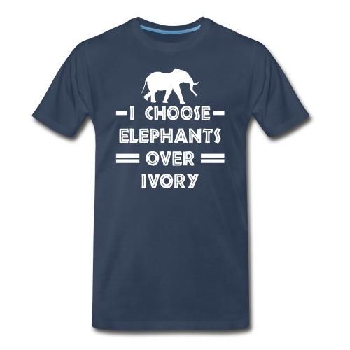 I Choose Elephants Over Ivory - Men's Premium T-Shirt