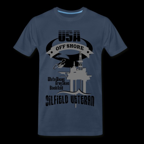 USA Oilfield Veteran - Men's Premium T-Shirt