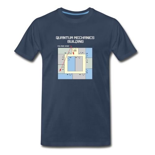 Colorful Quantum Building White Text - Men's Premium T-Shirt