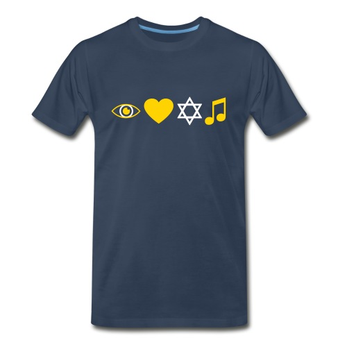 I Love Jewish Music - Men's Premium T-Shirt