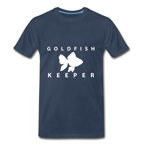 Goldfish Keeper (telescope) - Men's Premium T-Shirt