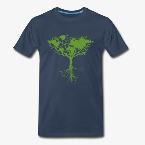 Earth tree - Men's Premium T-Shirt