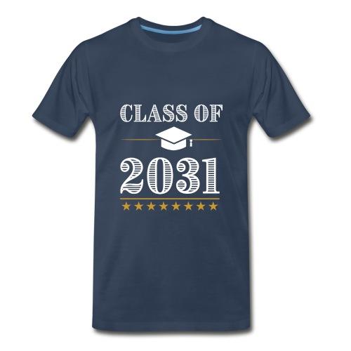 Class of 2031 T-Shirt Grow With Me - Men's Premium T-Shirt