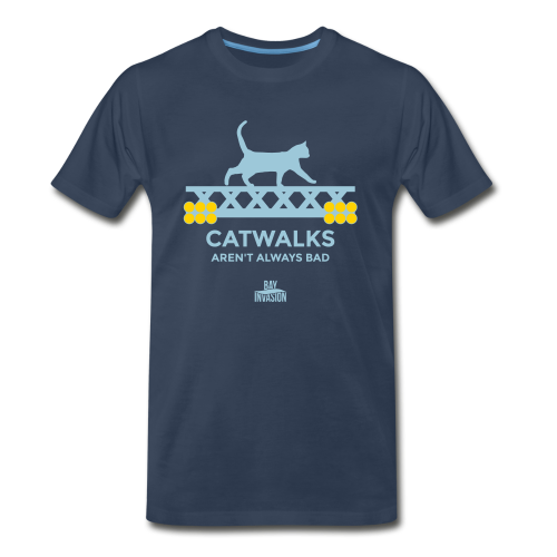 Catwalks - Tampa Bay Baseball Shirt - Bay Invasion - Men's Premium T-Shirt