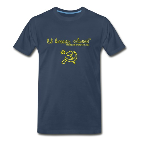 Full Li Huan Chao Logo Black+Yellow - Men's Premium T-Shirt