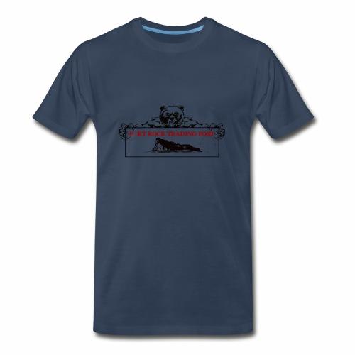 Fort Rock LOGO 1 Red For PNG - Men's Premium T-Shirt
