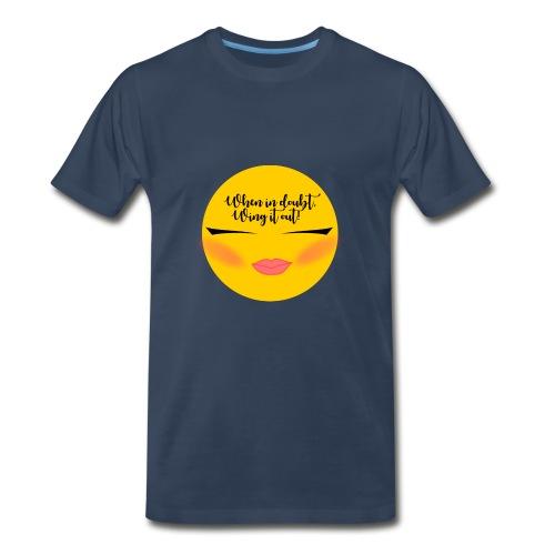 Winged Eyeliner emojii - Men's Premium T-Shirt
