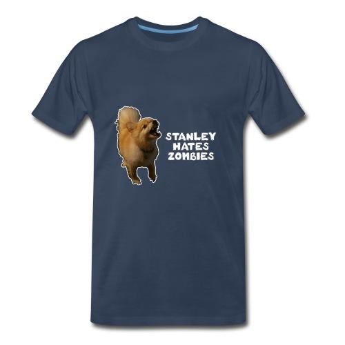 Stanley Hates Zombies - Men's Premium T-Shirt