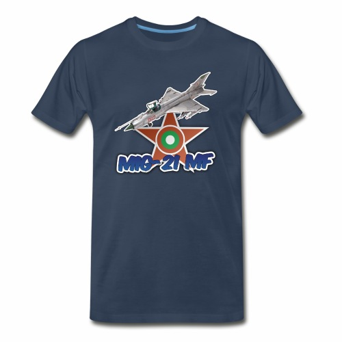 Bulgarian Air Force Mig-21 MF Jet Fighter - Men's Premium T-Shirt