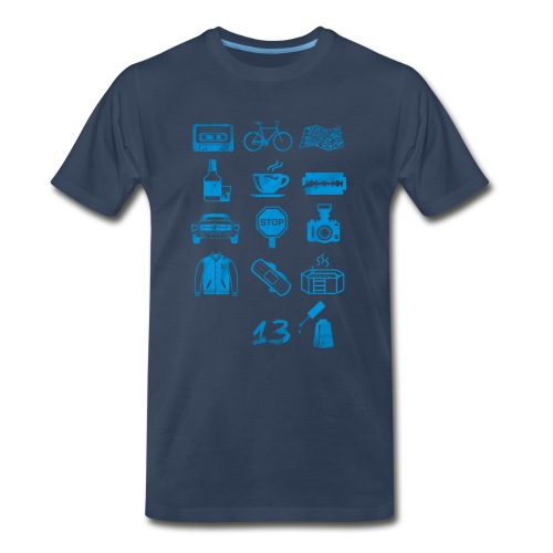 13 (Icons) Reasons Why - Men's Premium T-Shirt