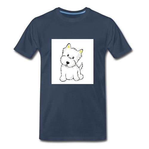 cute pup - Men's Premium T-Shirt