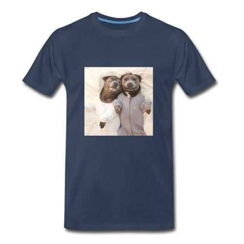 cute pitbull brothers - Men's Premium T-Shirt
