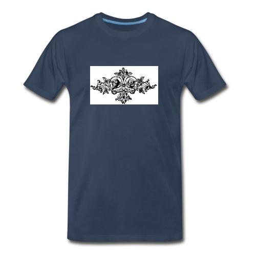 floral motif 6 lg - Men's Premium T-Shirt