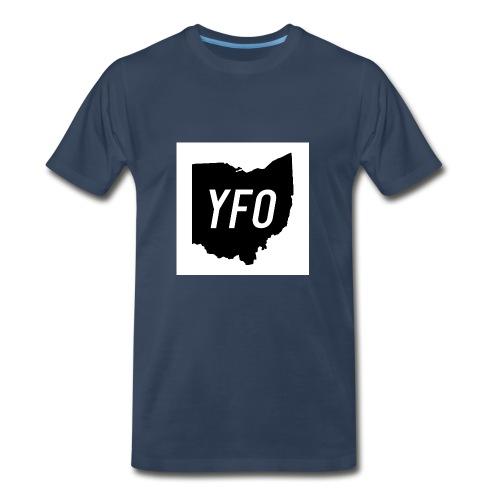 YFO Ohio Border Cutout Design - Men's Premium T-Shirt