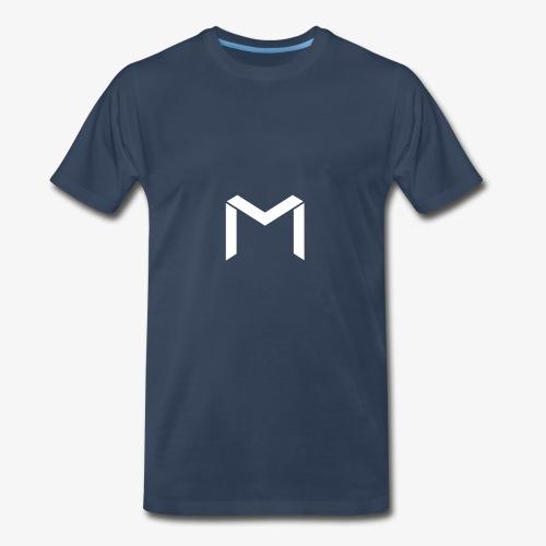 mavro logo white - Men's Premium T-Shirt