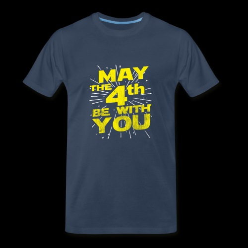 May The 4th Be With You Distressed - Men's Premium T-Shirt