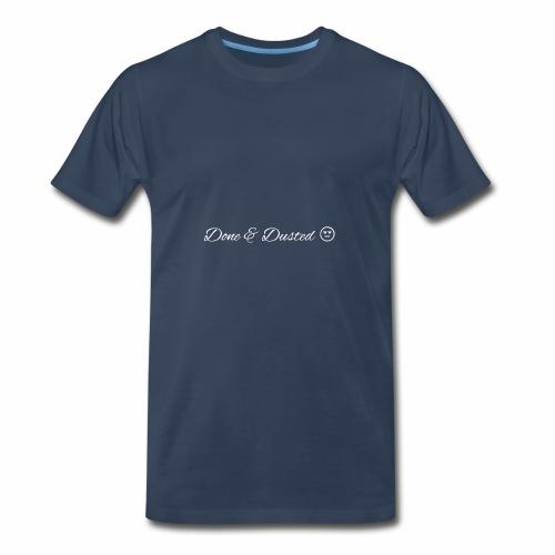 Done & Dusted White logo Plain Face - Men's Premium T-Shirt