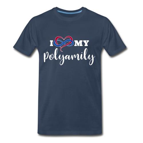 I Love My Polyamily - Men's Premium T-Shirt