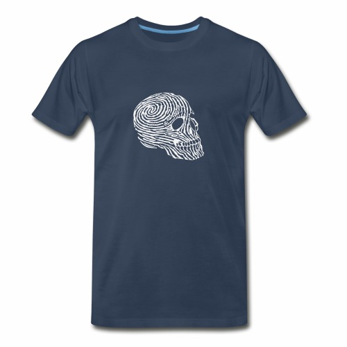 Skull Human Fingerprint Funny - Men's Premium T-Shirt