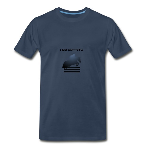 WANT TO FLY - Men's Premium T-Shirt