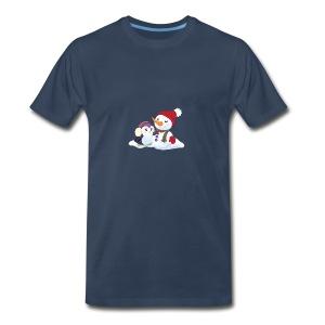Penguin & Snowman Winter Friends - Men's Premium T-Shirt
