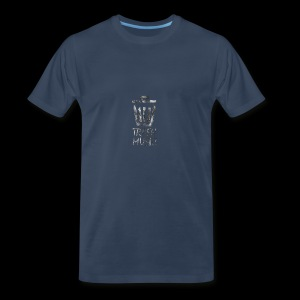 Grey Trash Logo - Men's Premium T-Shirt