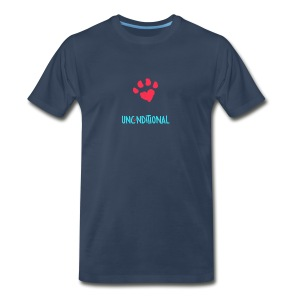 Project Unconditional Love Paw with Logo - Men's Premium T-Shirt