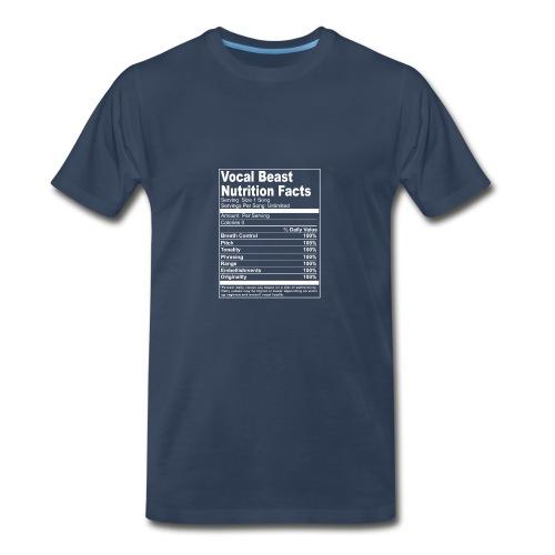 Vocal Nutrition White on Blk Streetwear - Men's Premium T-Shirt