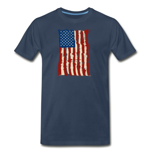 4th of July Independence Celebration American Flag - Men's Premium T-Shirt