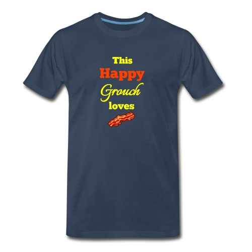 Happy Grouch bacon - Men's Premium T-Shirt