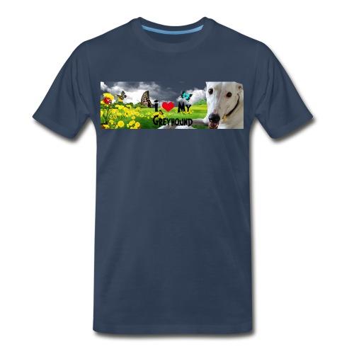 I Love My Greyhound - Men's Premium T-Shirt