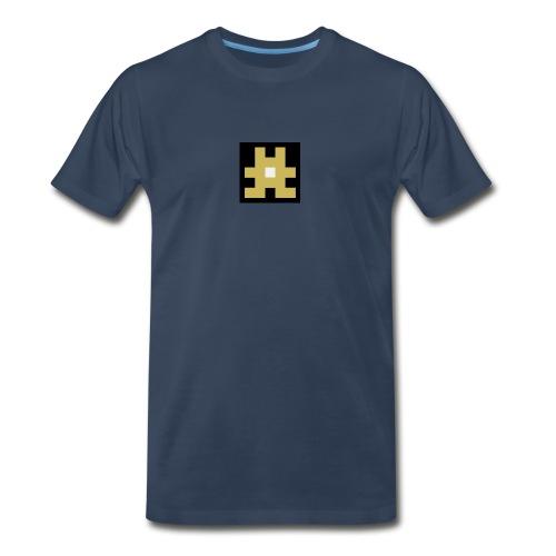 YELLOW hashtag - Men's Premium T-Shirt