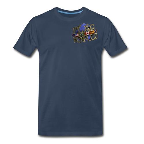 Flagworld Pixel Logo 3000pxwide - Men's Premium T-Shirt
