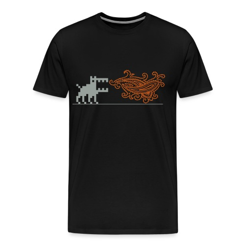 Fire-breathing Dottweiler - Men's Premium T-Shirt