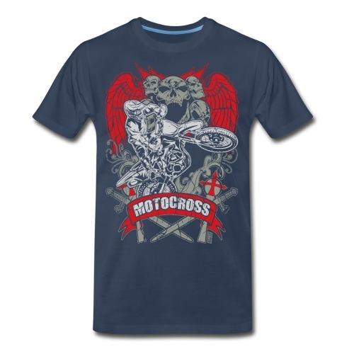 Motocross Extreme Tattoo - Men's Premium T-Shirt