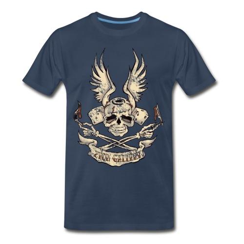 2toncrossedskull - Men's Premium T-Shirt