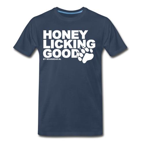 honey licking - Men's Premium T-Shirt