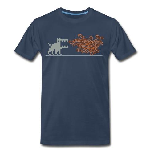 Fire-breathing Dottweiler - Men's Premium T-Shirt